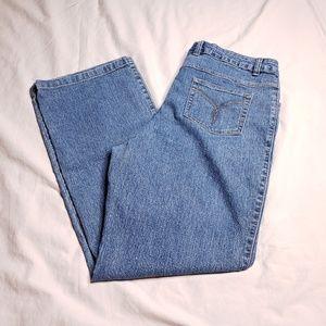 Westport Size 12 Blue Denim Mom Jeans Medium Wash